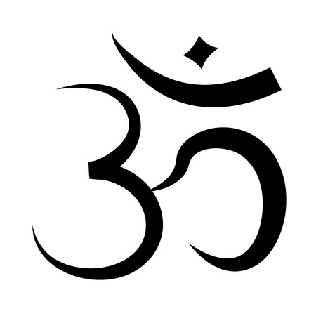 Hinduism sign - isolated on white background Stockfoto