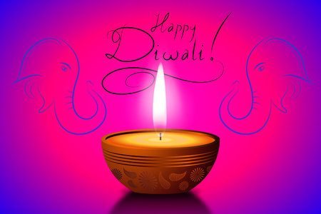 Happy Diwali card - Vector illustration Stockfoto - 106721825