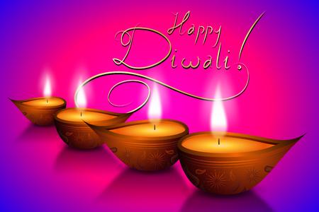 Happy Diwali card - Vector illustration