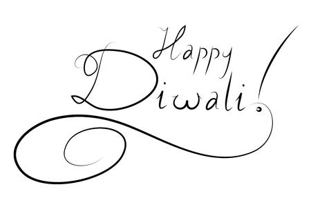 Happy Diwali - typography Stock Photo