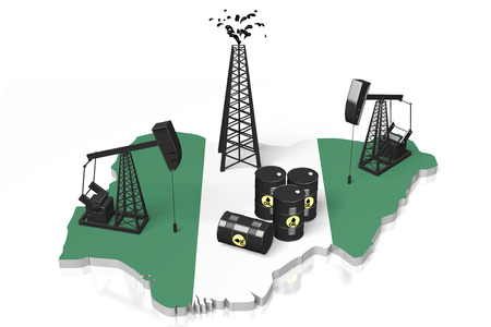 3D oil wells in Nigeria concept