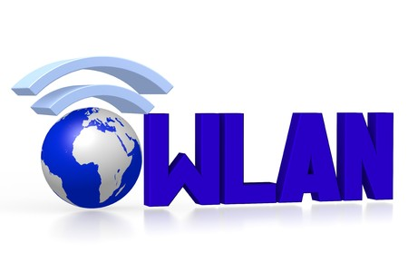 3D wlan, internet concept