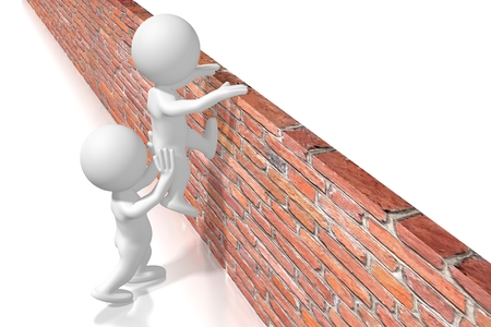 Helping getting over the wall concept