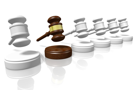 3D gavels - great for topics like justice, law etc Reklamní fotografie