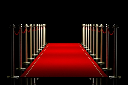 3D red carpet illustration Banco de Imagens