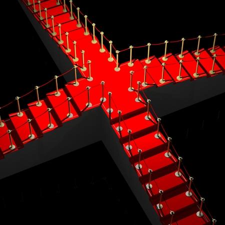 3D red carpet illustration Stock Photo