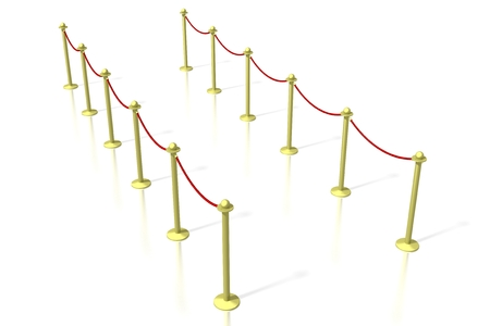 3D VIP section entrance Stock Photo