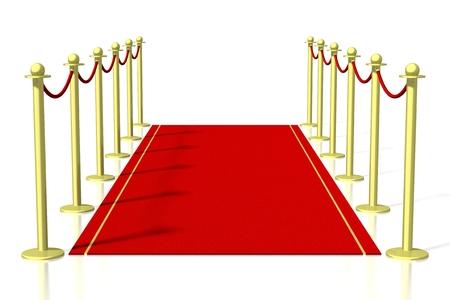 3D red carpet illustration Stock fotó