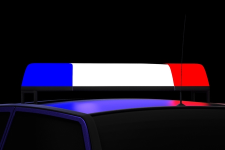 Blue and red police lights
