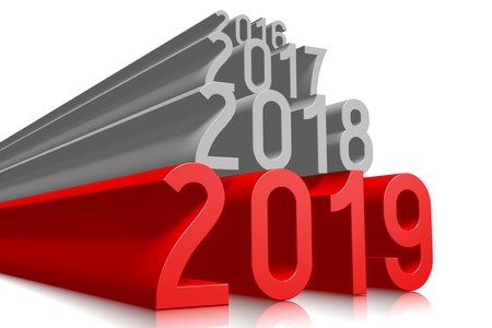 2019 New Year concept - text Imagens