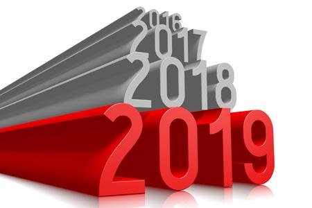 2019 New Year concept - text Banco de Imagens