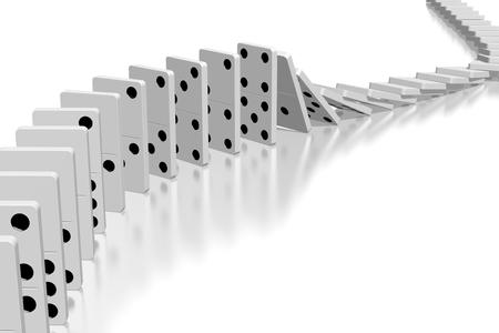 3D white dominoes
