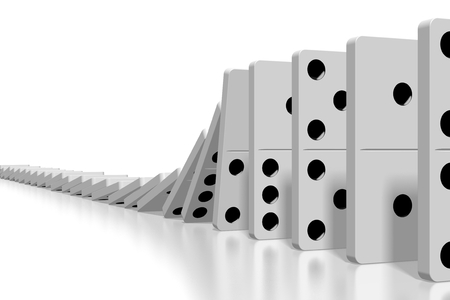 3D white dominoes