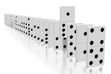 3D white dominoes - extraordinary concept