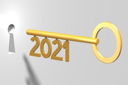 3D key concept - 2021