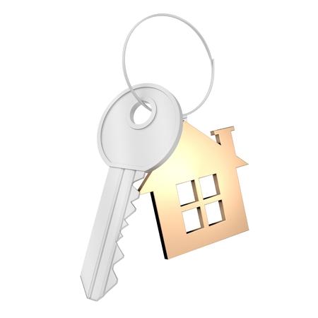 3D key house concept Stock Photo