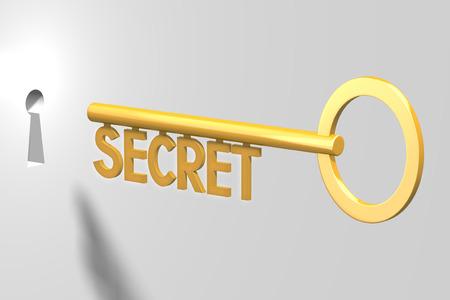 3D key concept - secret Stock Photo