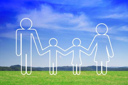 Family/ life insurance concept Stockfoto - 118497628