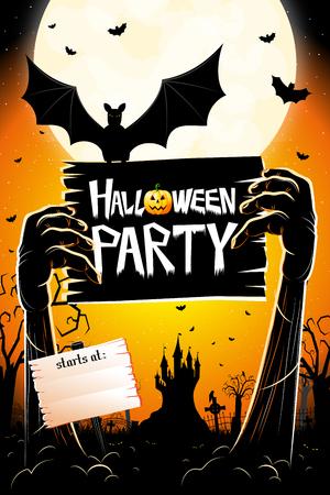 Cartel / banner de fiesta de Halloween