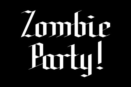 Zombie party - Halloween typography