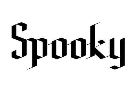 Spooky - Halloween typography