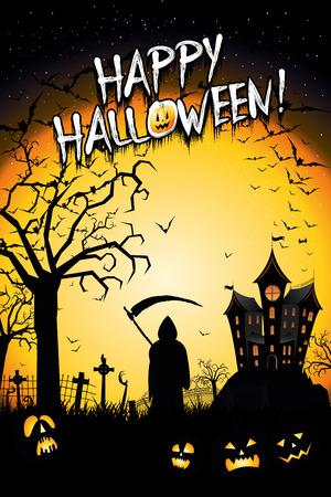 Happy Halloween poster banner