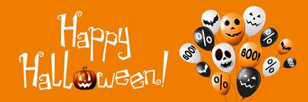 Happy Halloween banner design Imagens
