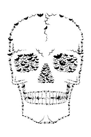 Skull - bats illustration