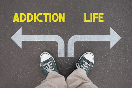 Shoes, trainers - addiction and life concept Foto de archivo - 122505055