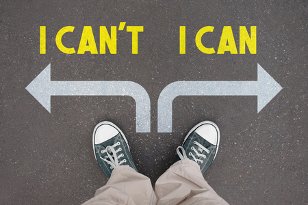 Shoes, trainers - I can, I can't concept