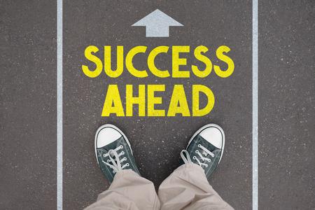 Shoes, trainers - success ahead Banco de Imagens