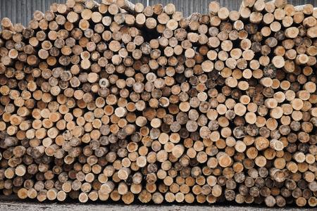 Chopped wood, woodpile, firewood - sawmill