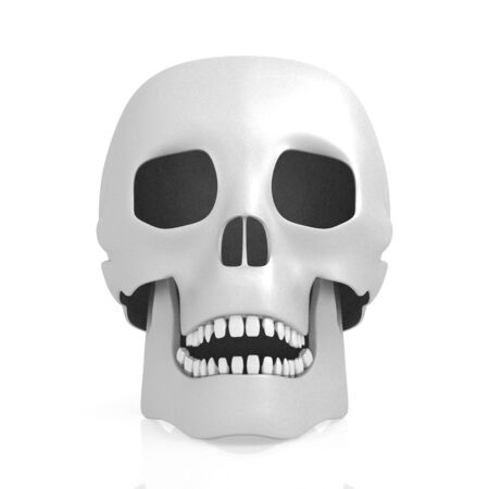 3D human skull on white background Banco de Imagens - 128522802