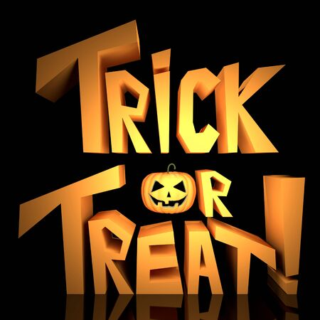 Trick or Treat text on black background