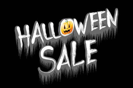 Halloween sale illustration - on black background Banco de Imagens