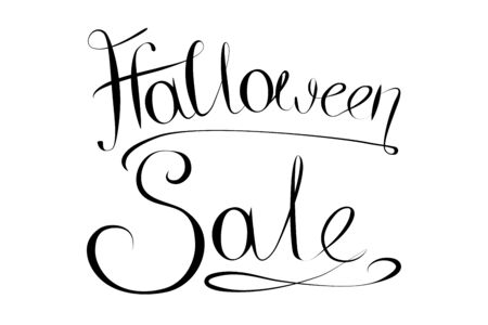 Halloween sale typographical concept Banco de Imagens