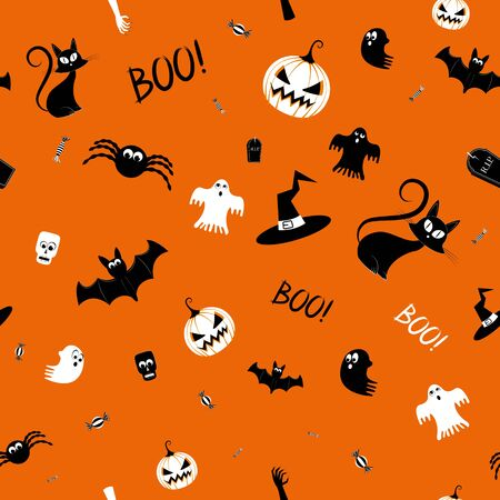 Halloween pattern background illustration Banco de Imagens - 128522831