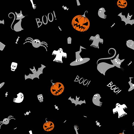 Halloween pattern/ background illustration Banco de Imagens - 128522957