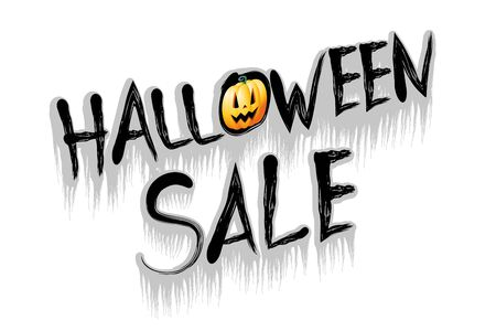 Halloween sale illustration - on white background