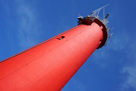 Red lighthouse - view from below