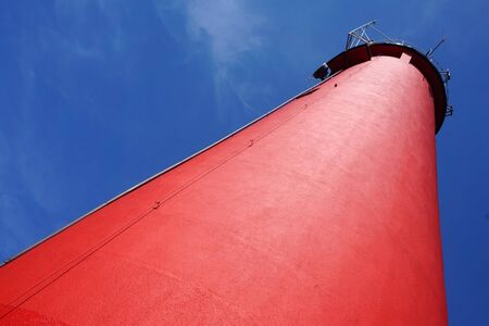 Red lighthouse - view from below Imagens