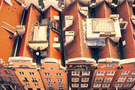 Old Town in Gdansk - tenements, Poland Imagens