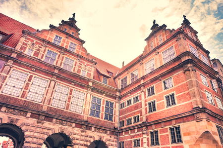 Old Town in Gdansk - tenements, Poland Editorial