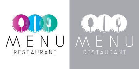 Restaurant menu vector logo template Stock Illustratie