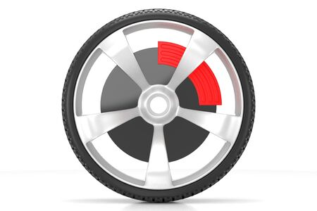 3D car wheel - isolated on white background