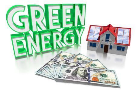 3D solar panels green energy concept Stok Fotoğraf