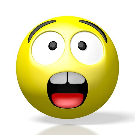 3D emoji emoticon - sad scared shock