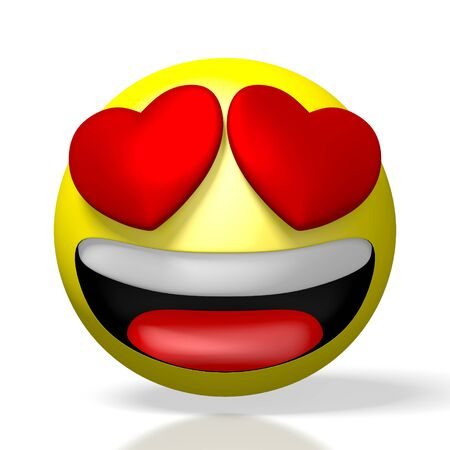 3D emoji emoticon - hearts, being in love