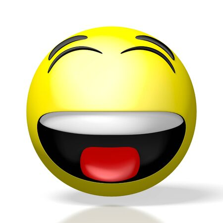 3D emoji emoticon - smile laughter