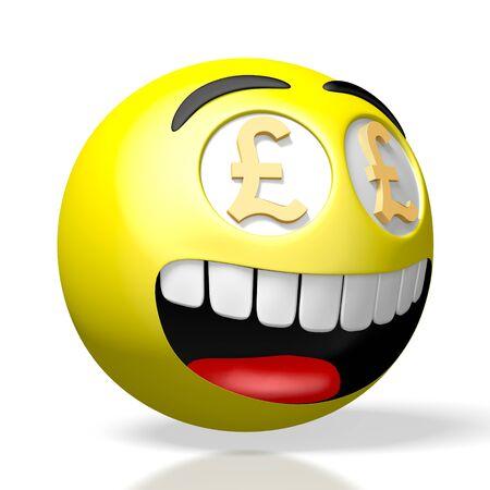 Emoji emoticon - pound signs - 3D rendering 스톡 콘텐츠